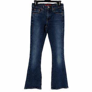 Levis Blue Stretch Flare Denim Jeans Sz Juniors 3